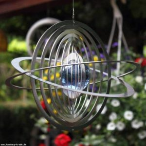 Windspiel Saturn mit Glaskugel