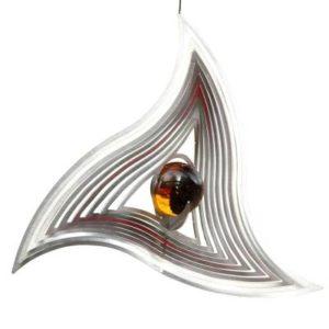 Metall Windspiel Triangle aus Edelstahl